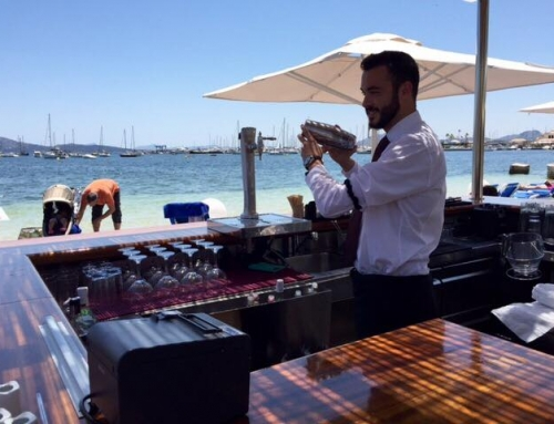 New Cappuccino grand cafe beach bar at Hotel Sis Pins